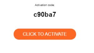 Crear una cuenta. El código de activación.