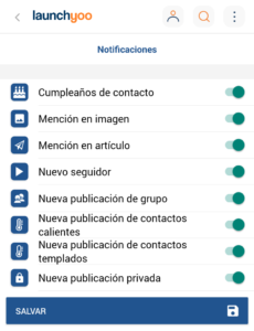 Configuración de notificaciones push