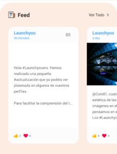 El Feed en la página de perfil de Launchyoo