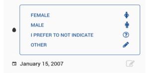 Indicación del sexo