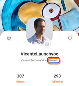 Tipo de perfil en la página de perfil