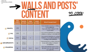 Separate walls of content